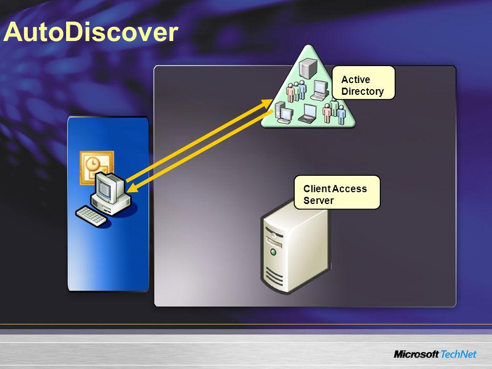 AutoDiscover Client Access Server Active Directory