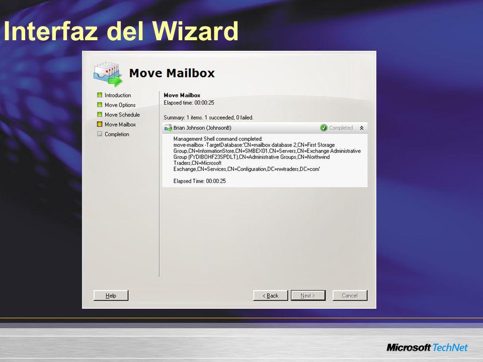 Interfaz del Wizard