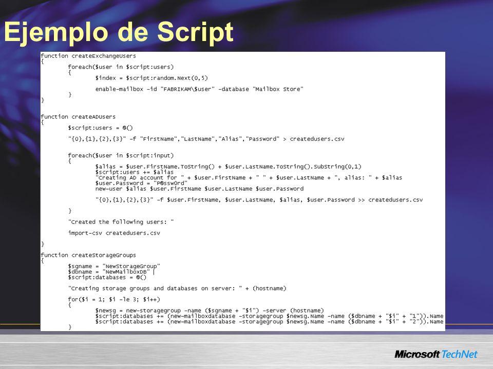 Ejemplo de Script