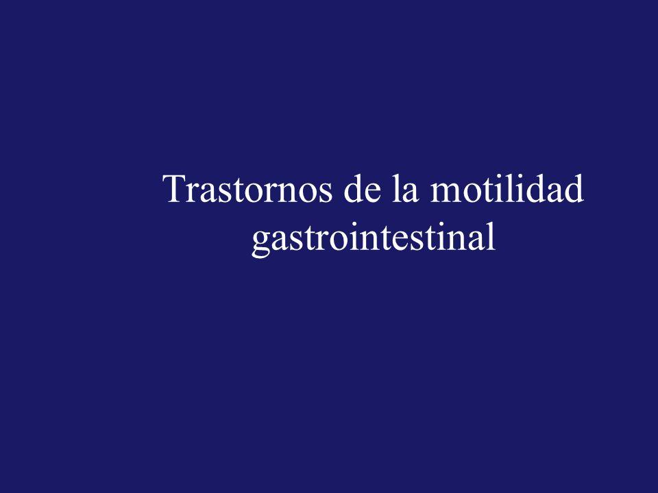 Trastornos de la motilidad gastrointestinal