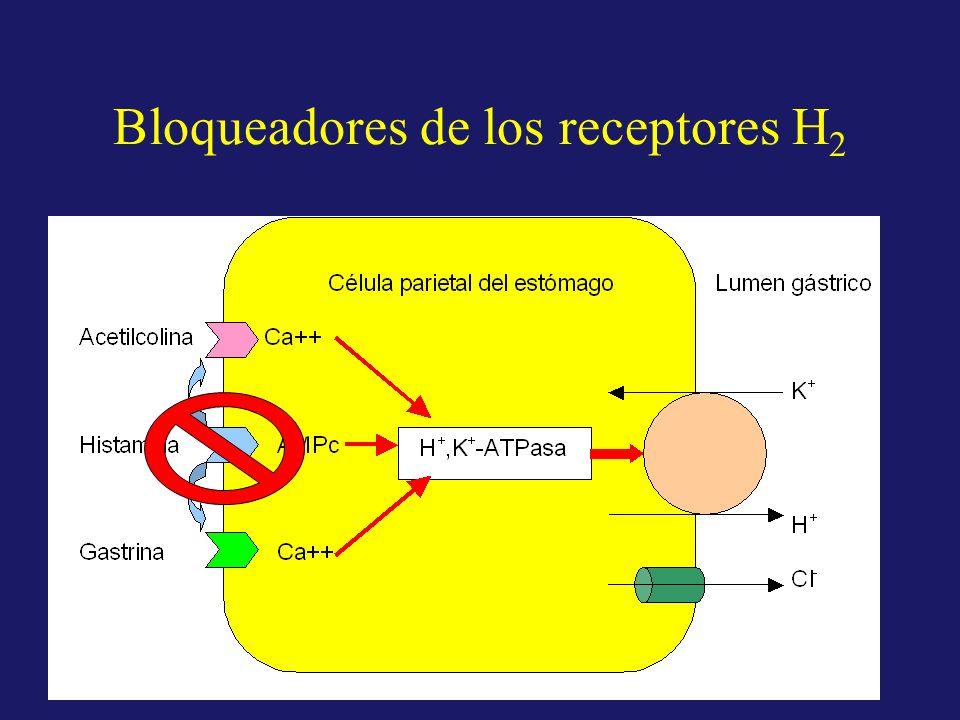 Bloqueadores de los receptores H 2