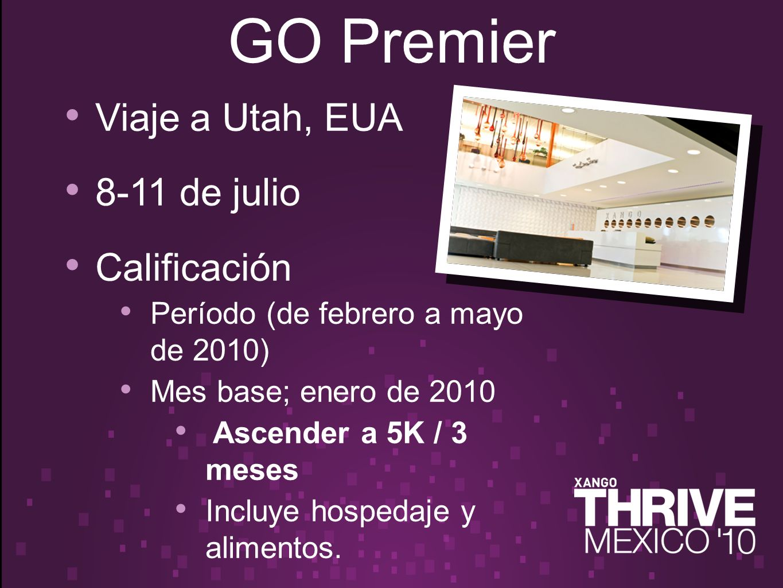 Viaje a Utah, EUA 8-11 de julio Calificación Período (de febrero a mayo de 2010) Mes base; enero de 2010 Ascender a 5K / 3 meses Incluye hospedaje y alimentos.