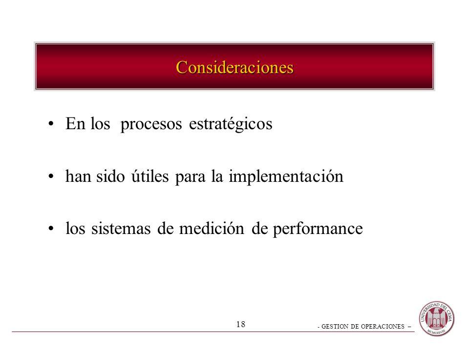 - GESTION DE OPERACIONES – 17 Estrategia Deliberada Proceso desarrollo y resultado estratégico Estrategia Intentada Estrategia no realizada Estrategia