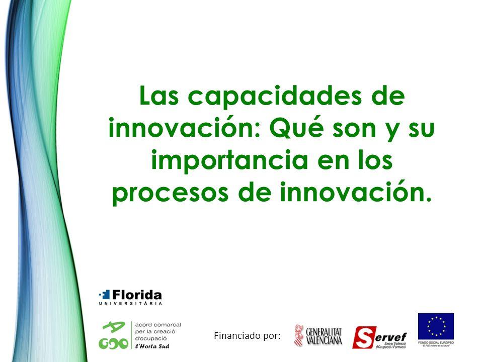 Las capacidades de innovación: Qué son y su importancia en los procesos de innovación. Financiado por: