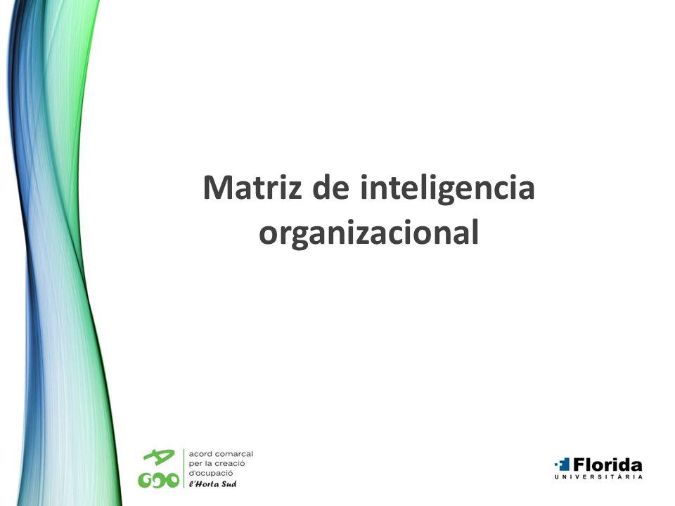 Matriz de inteligencia organizacional