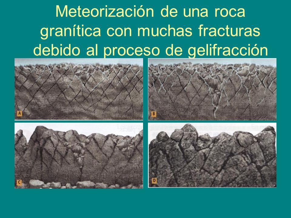 Roca fragmentada por gelifracción