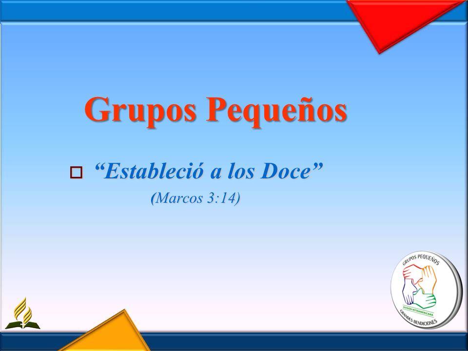 Grupos Pequeños Estableció a los Doce Estableció a los Doce (Marcos 3:14)