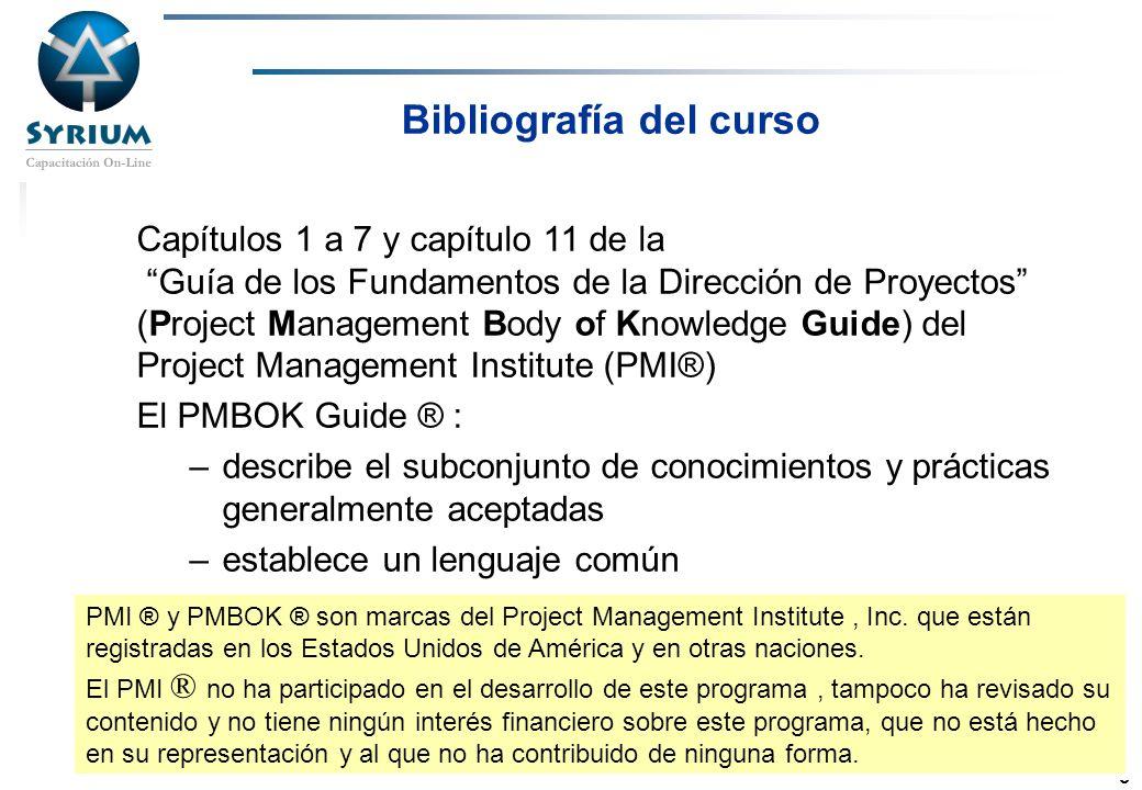Rosario Morelli, PMP 3 Capítulos 1 a 7 y capítulo 11 de la Guía de los Fundamentos de la Dirección de Proyectos (Project Management Body of Knowledge
