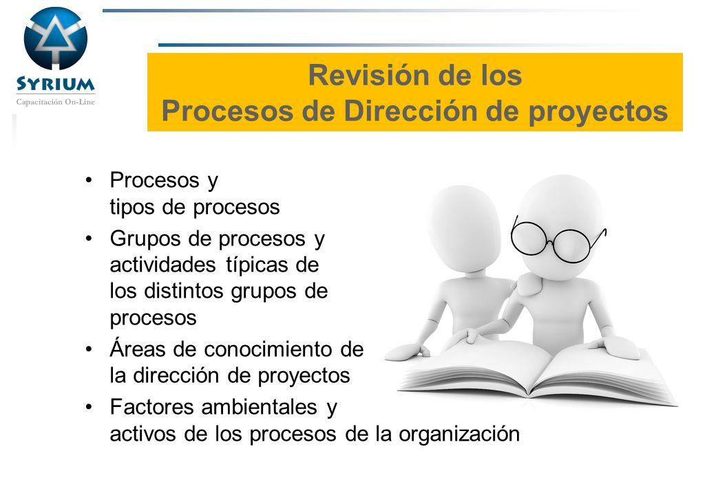 Rosario Morelli, PMP Revisión de los Procesos de Dirección de proyectos Procesos y tipos de procesos Grupos de procesos y actividades típicas de los d