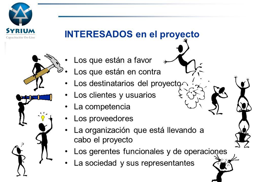 Rosario Morelli, PMP INTERESADOS en el proyecto Los que están a favor Los que están en contra Los destinatarios del proyecto Los clientes y usuarios L