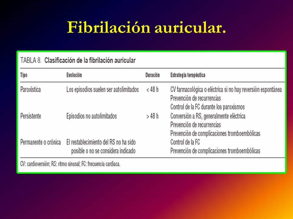 Fibrilación auricular.