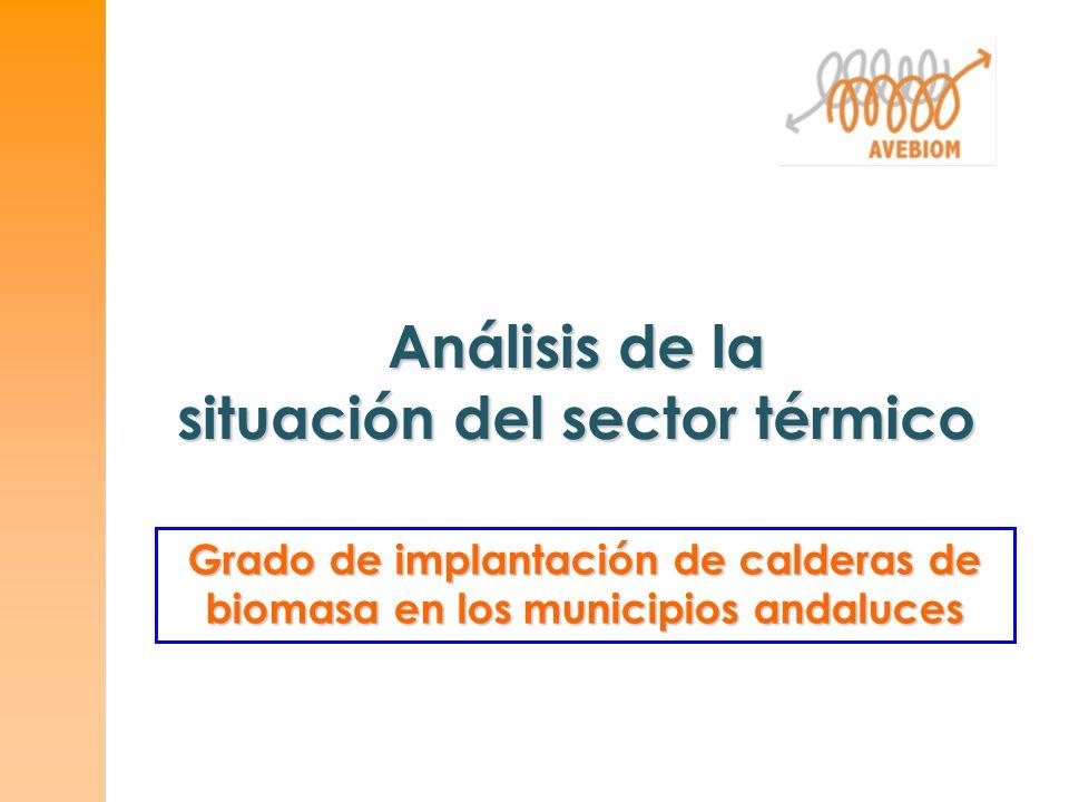 Análisis de la situación del sector térmico Grado de implantación de calderas de biomasa en los municipios andaluces
