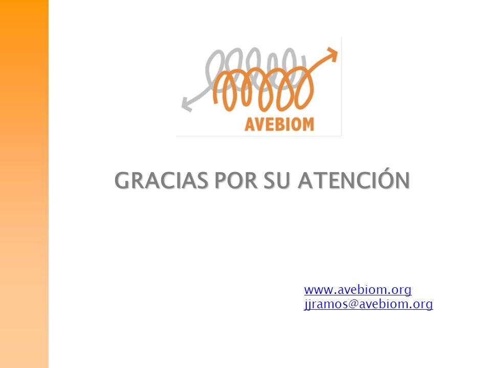 GRACIAS POR SU ATENCIÓN www.avebiom.org jjramos@avebiom.org
