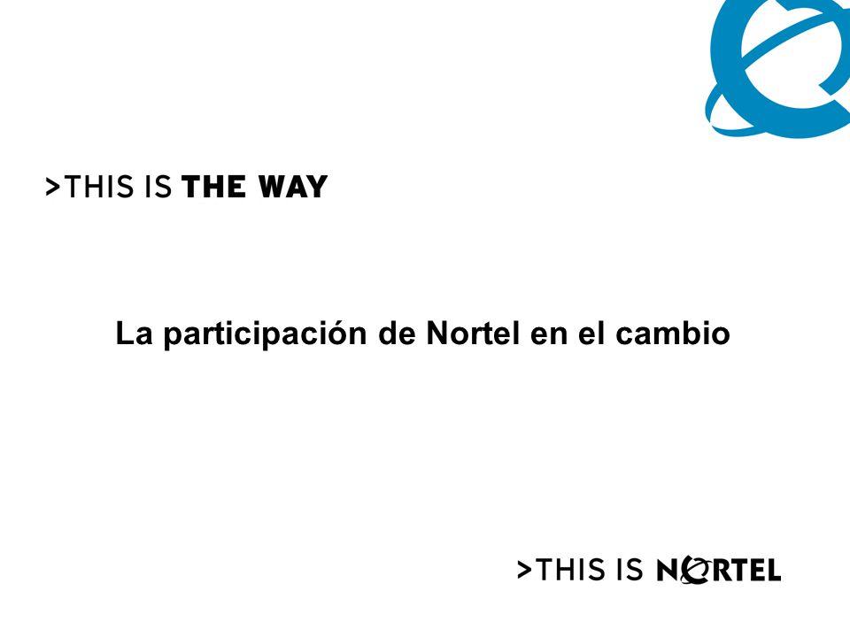 La participación de Nortel en el cambio