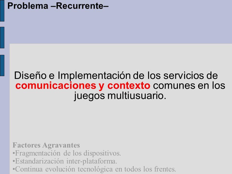 Diseño e Implementación de los servicios de comunicaciones y contexto comunes en los juegos multiusuario.