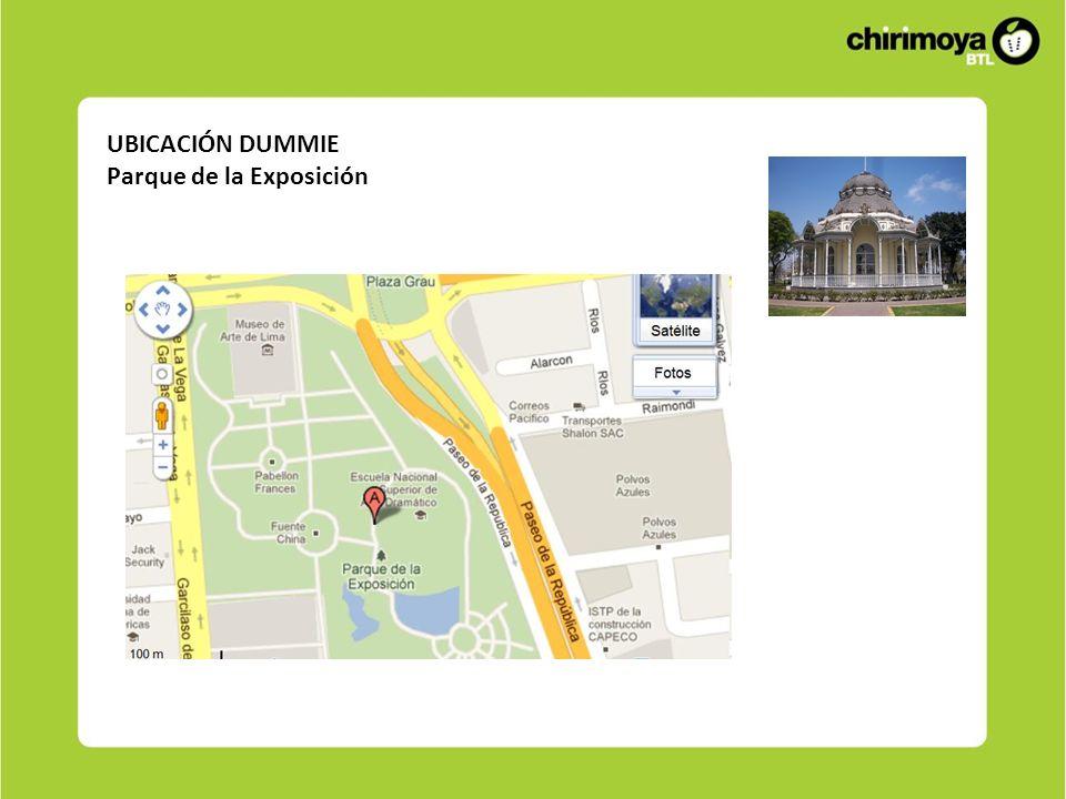 UBICACIÓN DUMMIE Parque de la Exposición