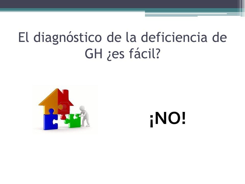 El diagnóstico de la deficiencia de GH ¿es fácil? ¡NO!