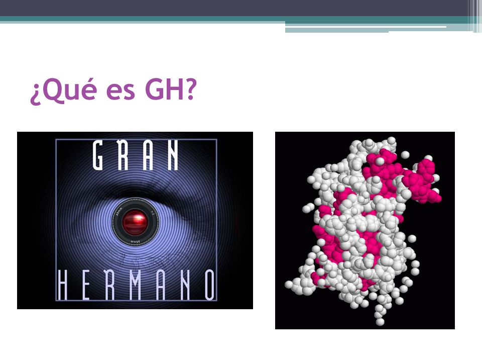 ¿Qué es GH?