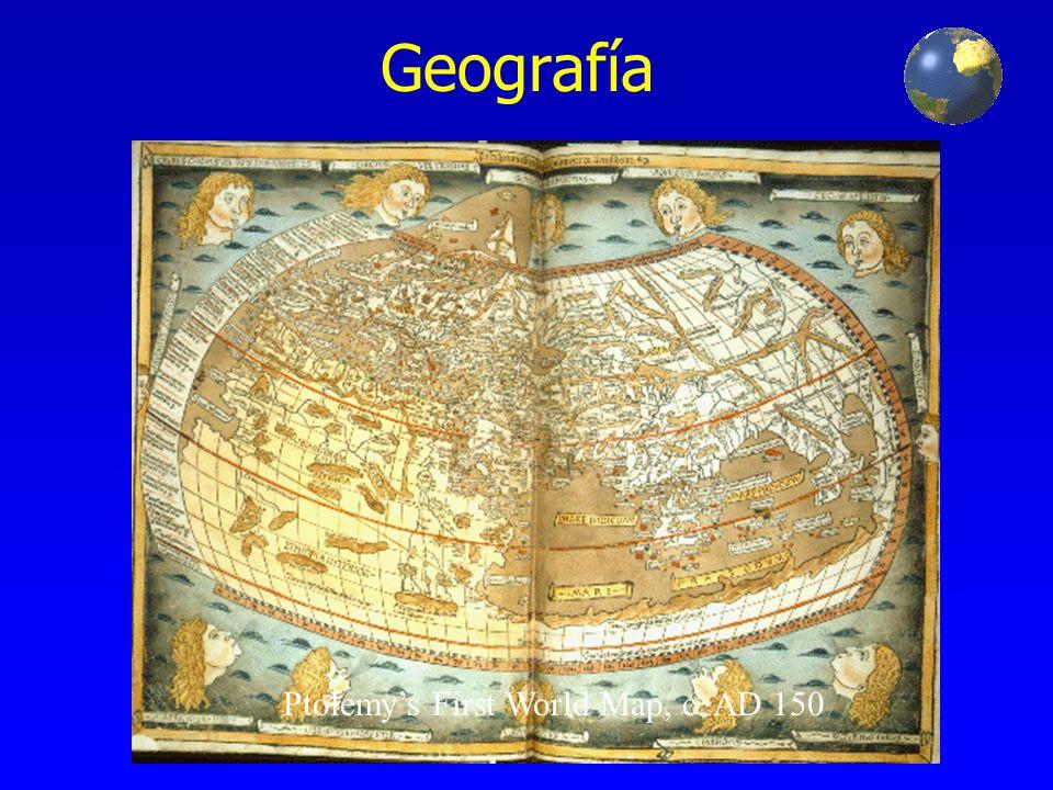 Geografía Ptolemys First World Map, c. AD 150