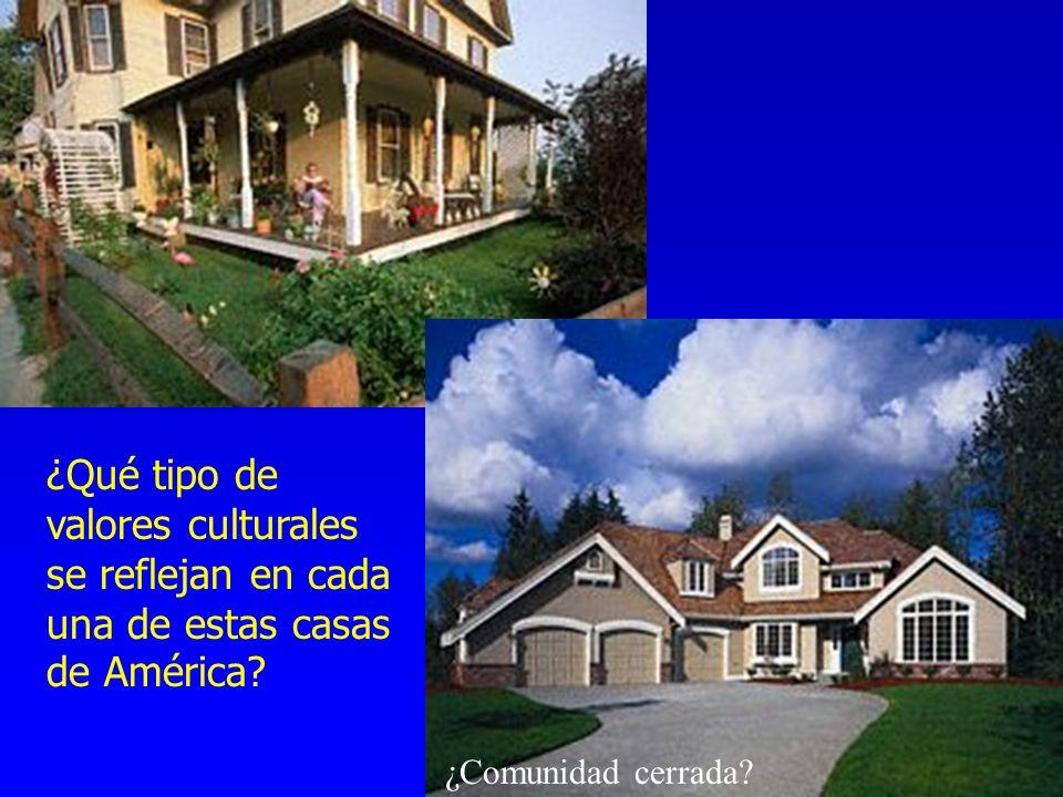 ¿Qué tipo de valores culturales se reflejan en cada una de estas casas de América? ¿Comunidad cerrada?