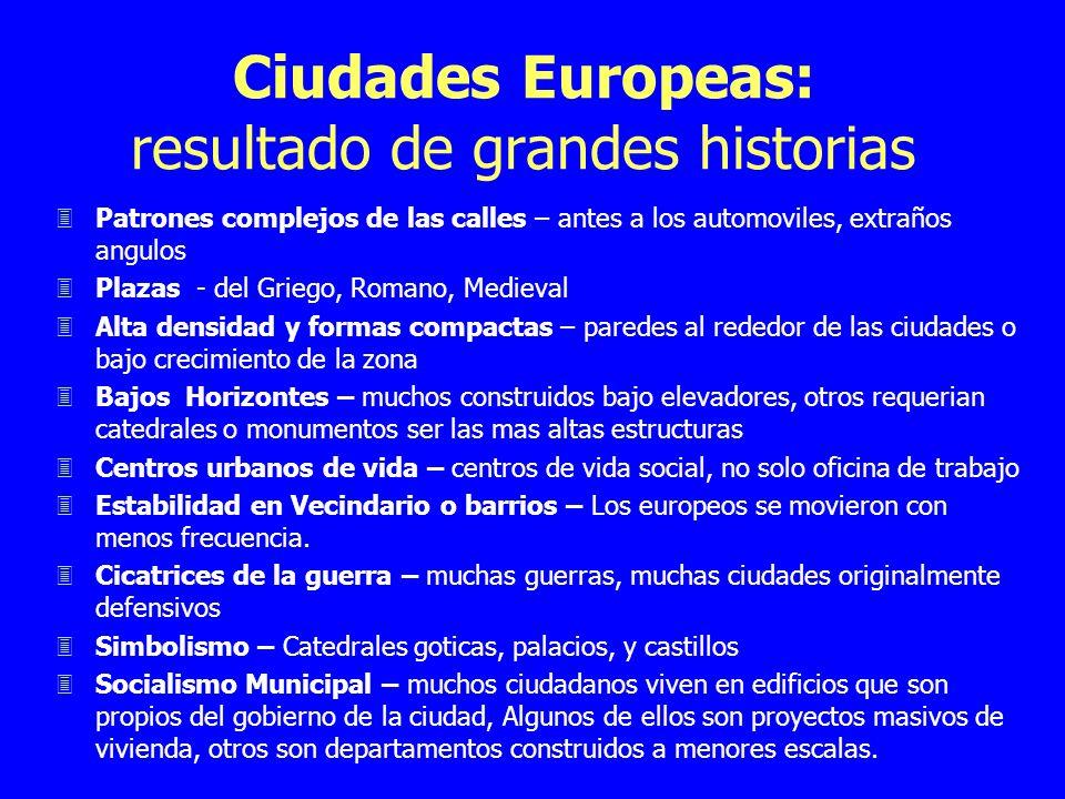 Ciudades Europeas: resultado de grandes historias 3Patrones complejos de las calles – antes a los automoviles, extraños angulos 3Plazas - del Griego,