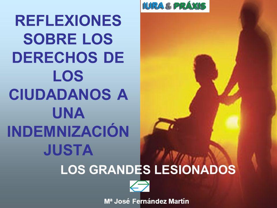 1 REFLEXIONES SOBRE LOS DERECHOS DE LOS CIUDADANOS A UNA INDEMNIZACIÓN JUSTA LOS GRANDES LESIONADOS Mª José Fernández Martín