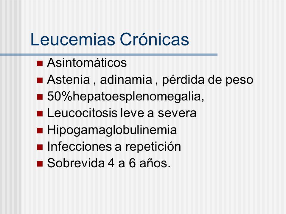 Leucemia Linfocítica crónica Leucocitosis +25000.