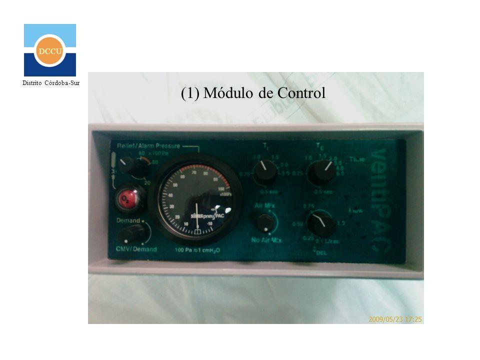 DCCU Distrito Córdoba-Sur (2) Conexiones a fuente de O2 y paciente