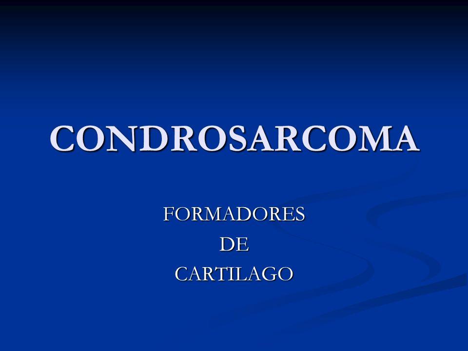 CONDROSARCOMA FORMADORESDECARTILAGO