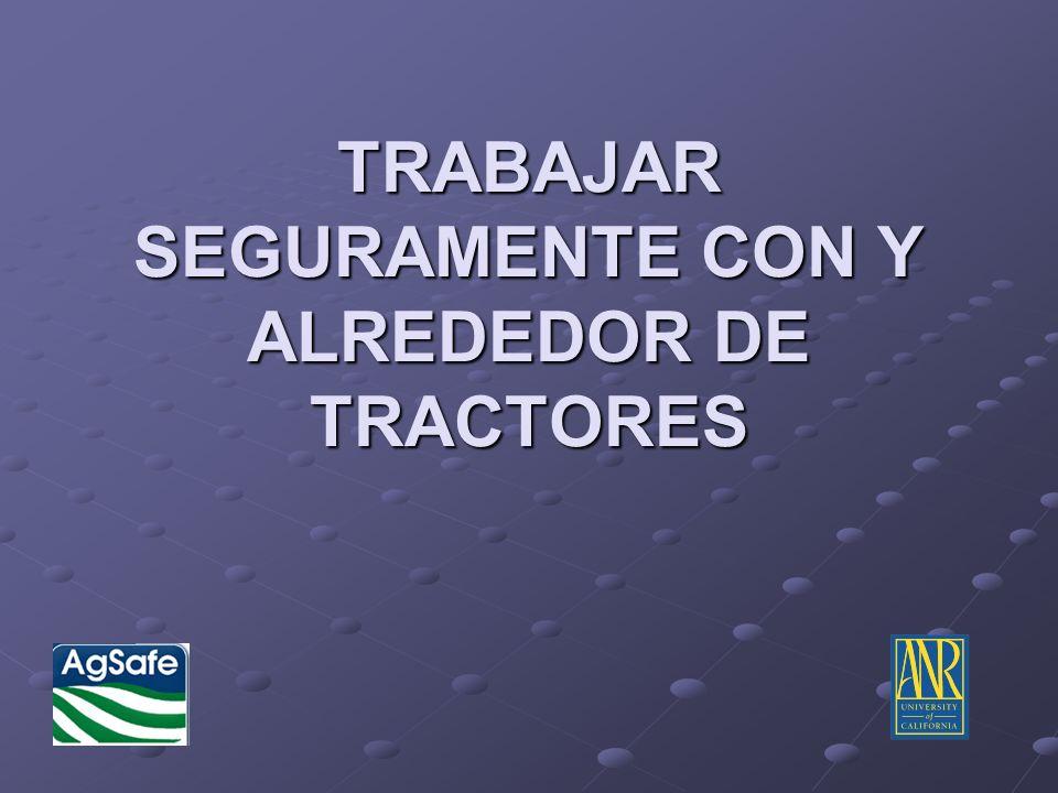 TRACTORES DE MARCO-ARTICULADO REQUIEREN CUIDADO ESPECIAL Porque los tractores de marco- articulados se doblan de el medio, es especialmente importante que Ud.