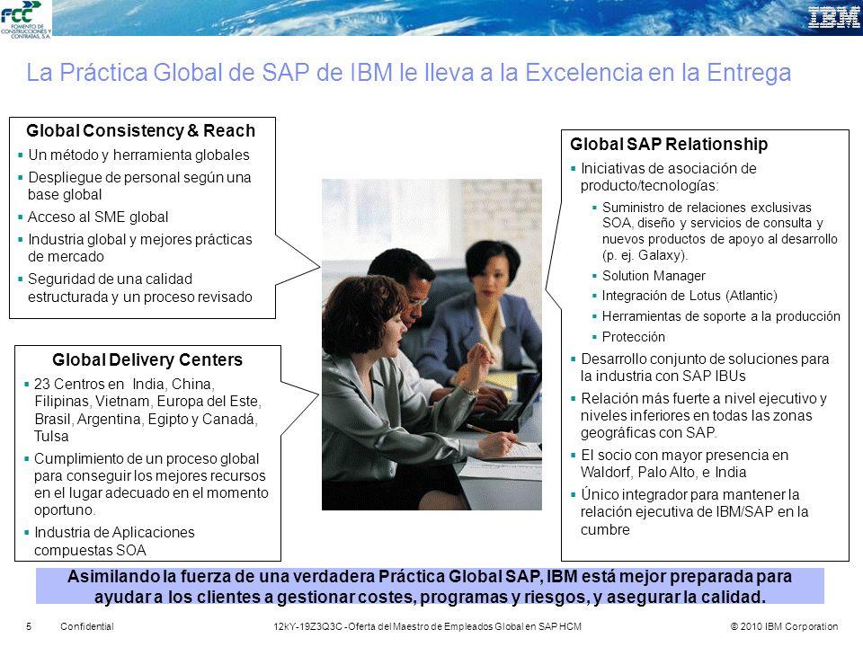 © 2010 IBM Corporation512kY-19Z3Q3C -Oferta del Maestro de Empleados Global en SAP HCMConfidential La Práctica Global de SAP de IBM le lleva a la Exce