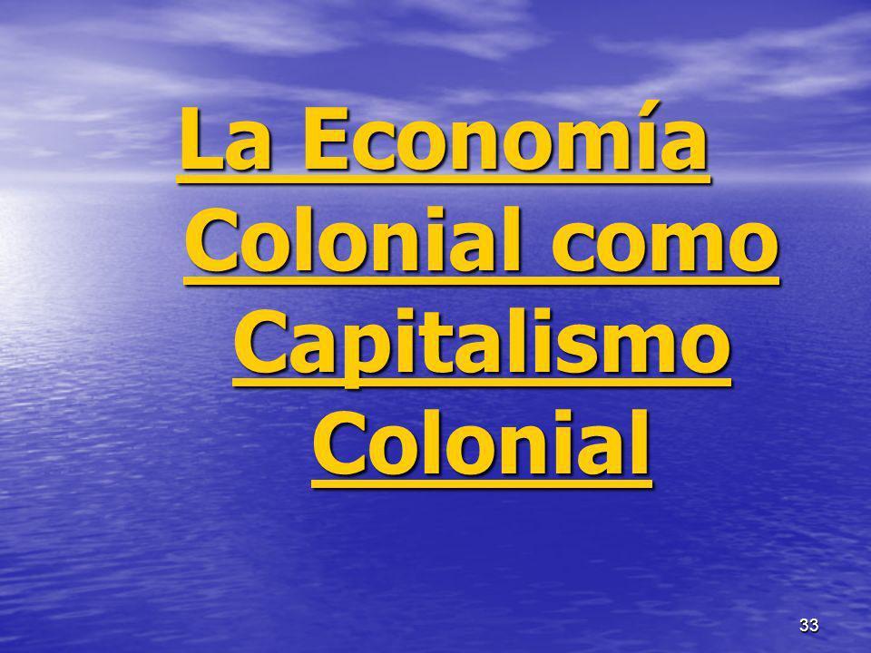 33 La Economía Colonial como Capitalismo Colonial