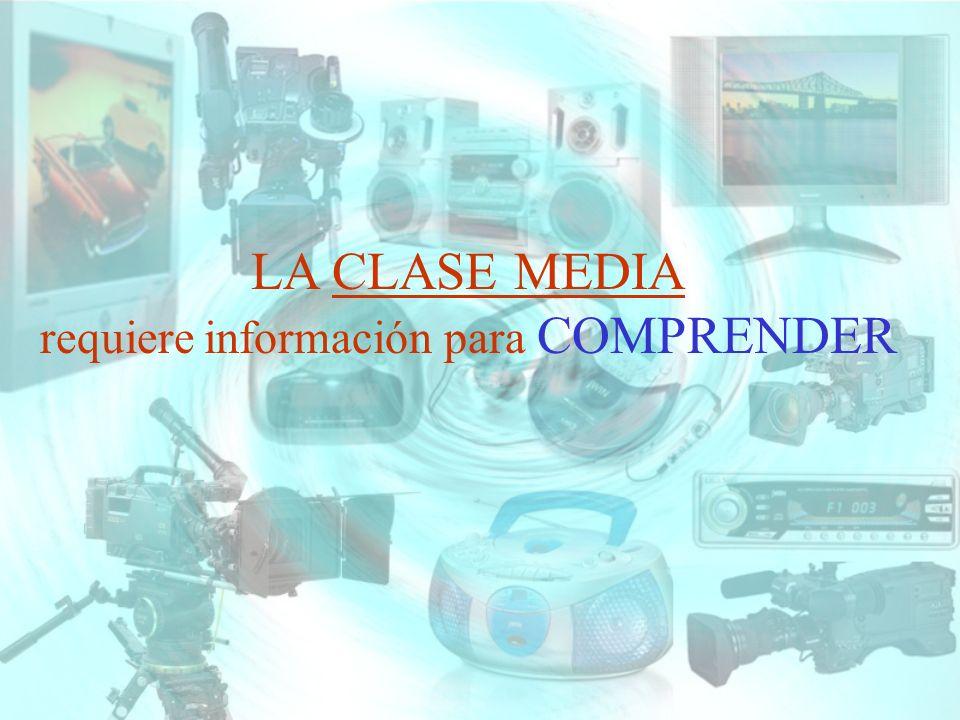 LA CLASE MEDIA requiere información para COMPRENDER