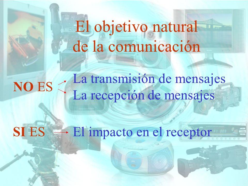 El objetivo natural de la comunicación NO ES La transmisión de mensajes La recepción de mensajes SI ESEl impacto en el receptor