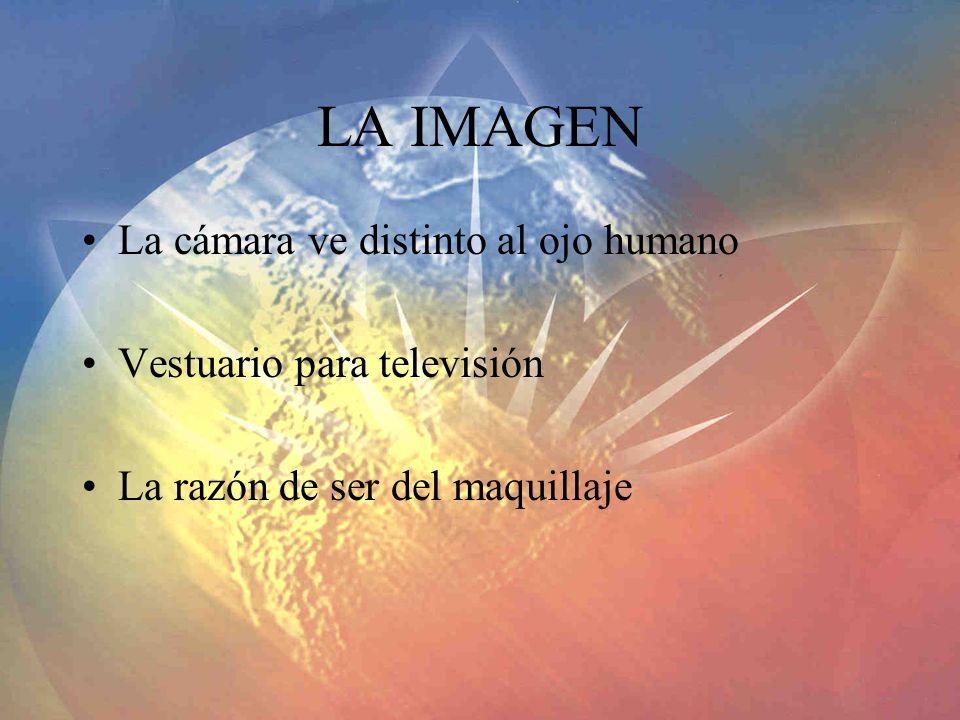 LA IMAGEN La cámara ve distinto al ojo humano Vestuario para televisión La razón de ser del maquillaje
