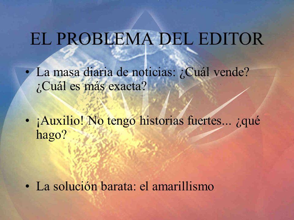 EL PROBLEMA DEL EDITOR La masa diaria de noticias: ¿Cuál vende.