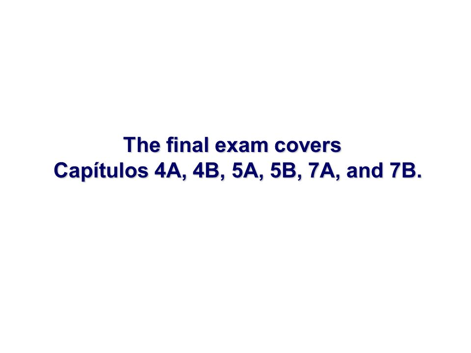 Review the following items for the Spring final exam.