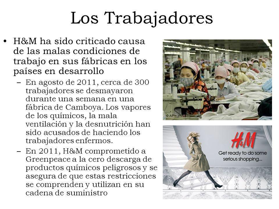 Los Trabajadores H&M ha sido criticado causa de las malas condiciones de trabajo en sus fábricas en los países en desarrollo –En agosto de 2011, cerca