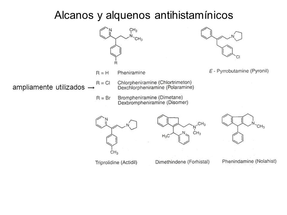 Alcanos y alquenos antihistamínicos ampliamente utilizados