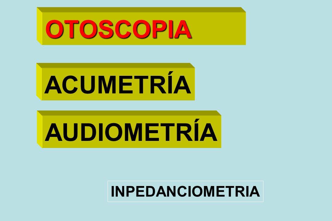 Impedanciometría Timpanometría Reflejo estapedial