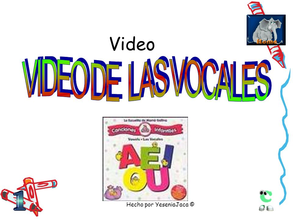 Video VIDEOS DE NUMEROS Y VOCALES Hecho por YeseniaJaca ©