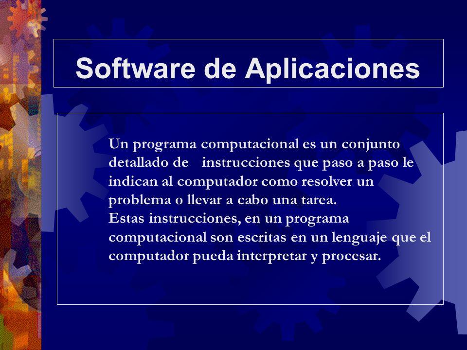 Un programa computacional es un conjunto detallado de instrucciones que paso a paso le indican al computador como resolver un problema o llevar a cabo