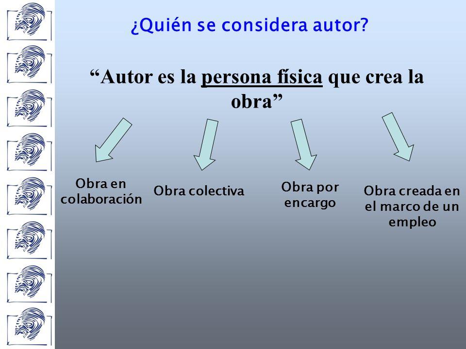 ¿Quién se considera autor.