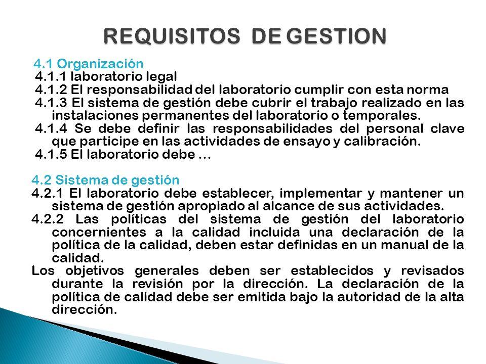 5.7 Muestreo El laboratorio debe tener un plan y procedimientos para el muestreo cuando efectúe el muestreo de sustancia material o productos que luego ensaye o calibre.