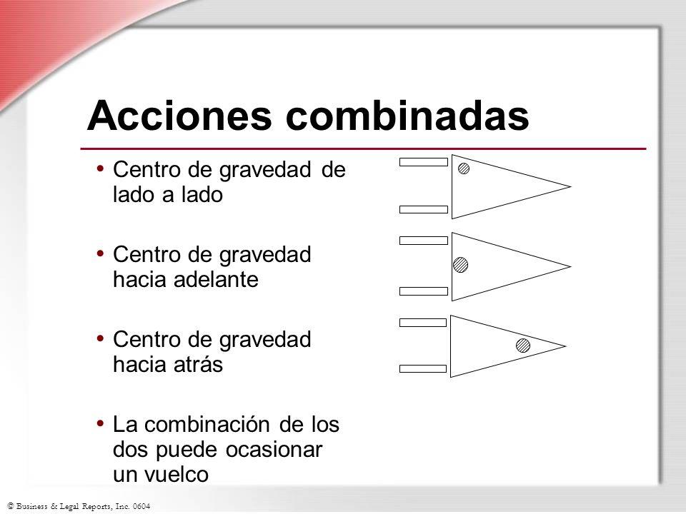 © Business & Legal Reports, Inc. 0604 Acciones combinadas Centro de gravedad de lado a lado Centro de gravedad hacia adelante Centro de gravedad hacia