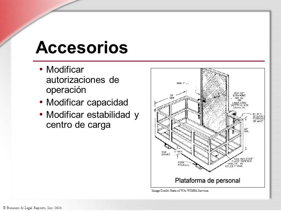 © Business & Legal Reports, Inc. 0604 Image Credit: State of WA-WISHA Services Accesorios Modificar autorizaciones de operación Modificar capacidad Mo