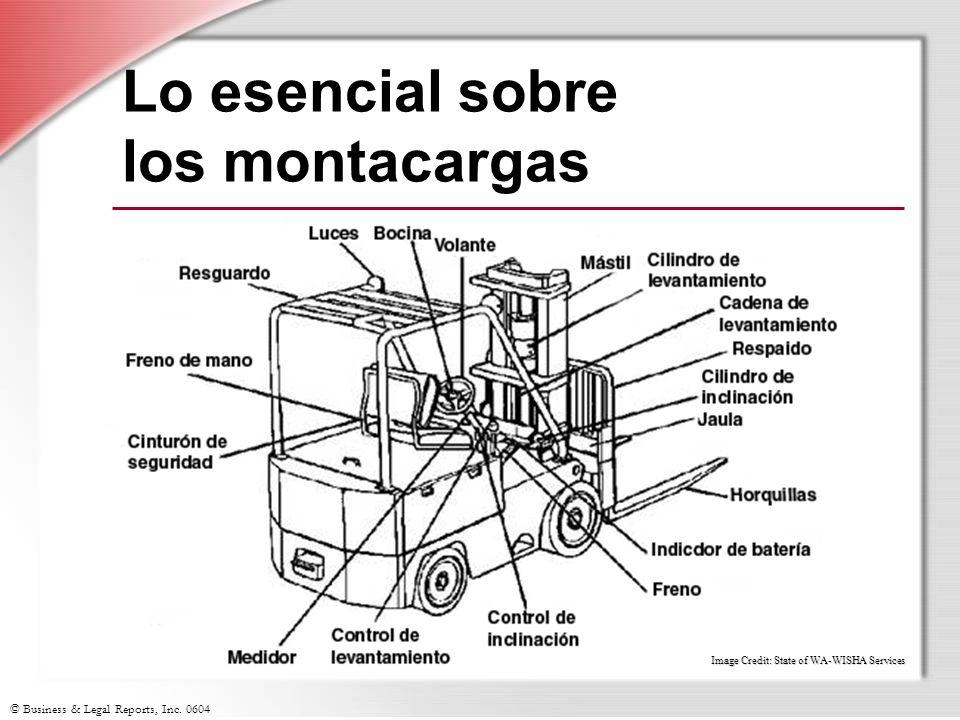 © Business & Legal Reports, Inc. 0604 Lo esencial sobre los montacargas www.Lni.wa.gov Image Credit: State of WA-WISHA Services