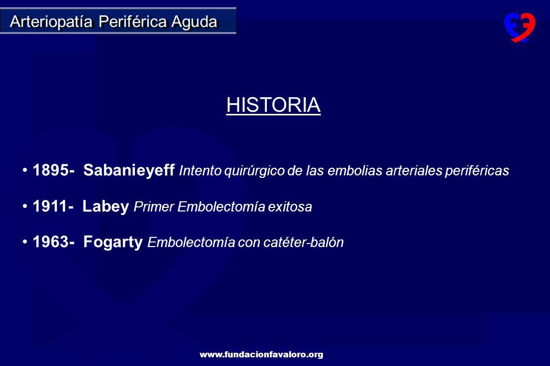 www.fundacionfavaloro.org Lesiones ostiales severas, muy calcificadas en ambas iliacas primitivas.