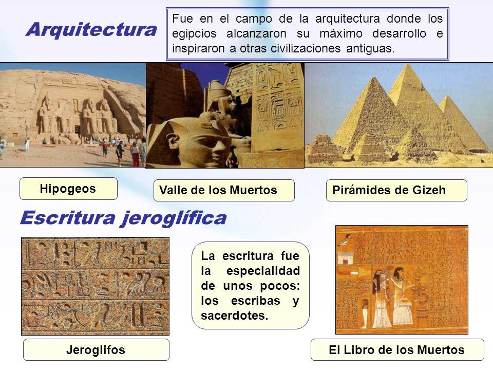 Arquitectura Fue en el campo de la arquitectura donde los egipcios alcanzaron su máximo desarrollo e inspiraron a otras civilizaciones antiguas. Valle