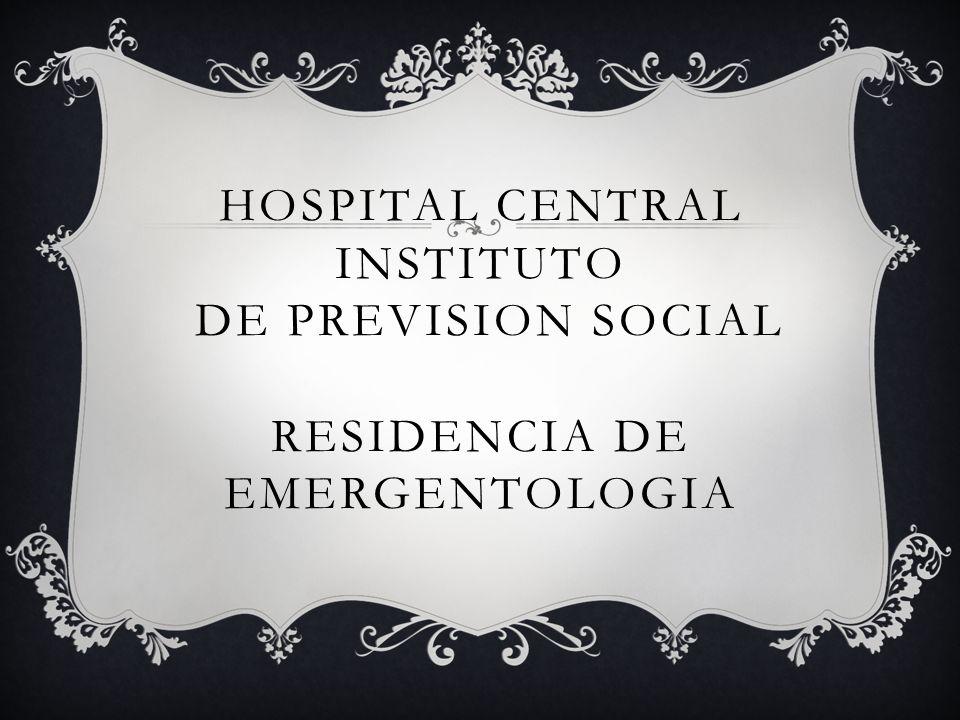 CASO CLINICO Dr Mario Ruben Ortiz Garay Residente de Emergentologia Año 2012